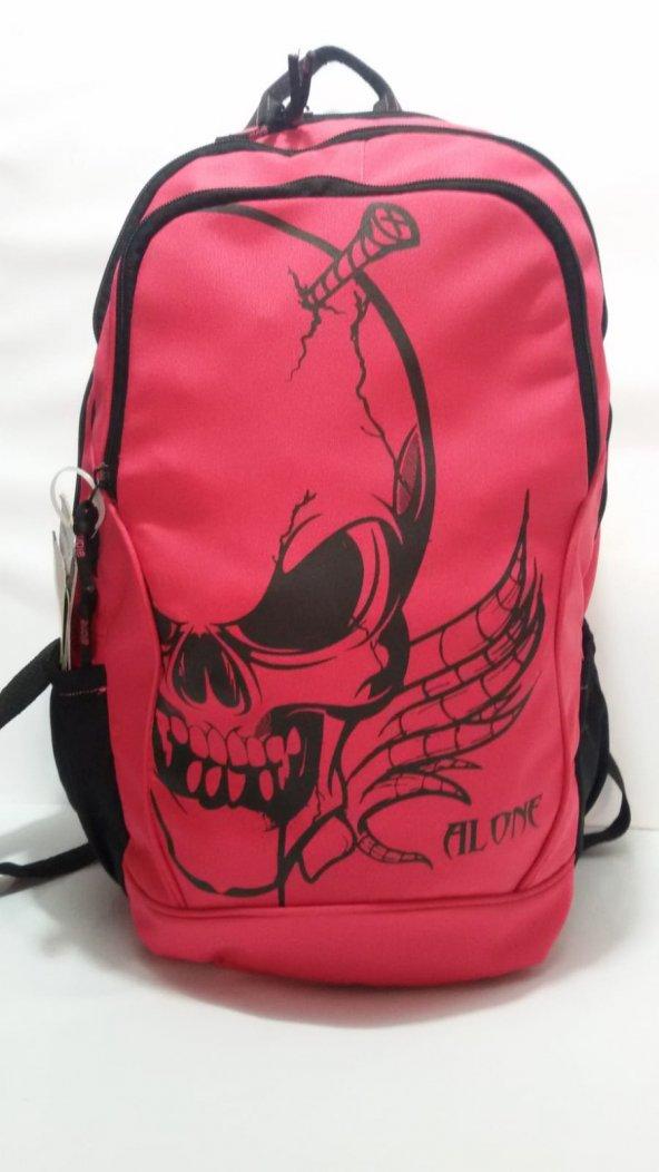 ALONE üç bölmeli okul sırt çantası
