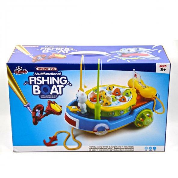Oyuncak Kutulu Eğlenceli Balıkçı Teknesi