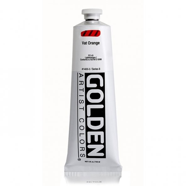 GOLDEN HEAVY BODY ACRYLIC 148 ML SERİ 8 VAT ORANGE