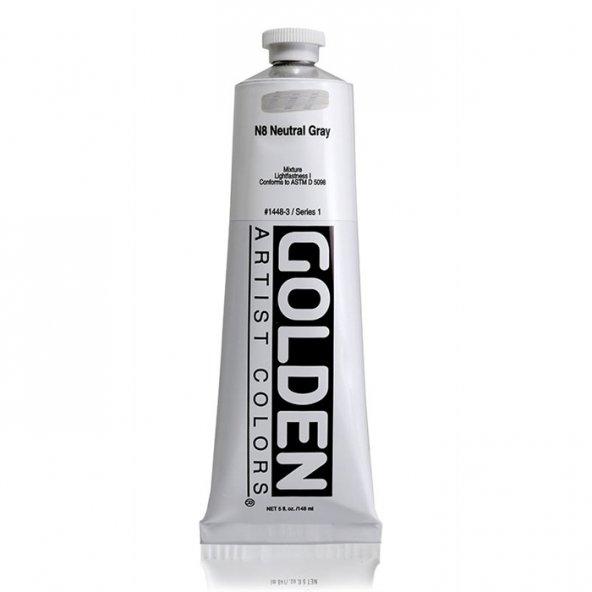 GOLDEN HEAVY BODY ACRYLIC 148 ML SERİ 1 N8 NE.GRAY