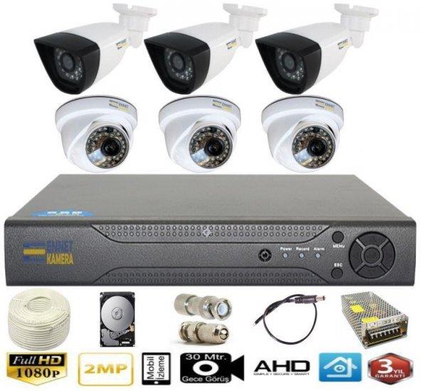 6 Kameralı AHD Süper Set