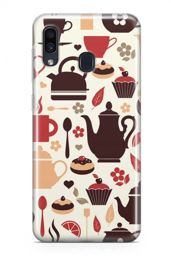 Samsung Galaxy A20 Kılıf Tea Time Serisi Joanna