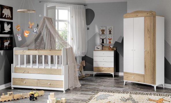 Sansa  Bebek Odası Takımı Meşe
