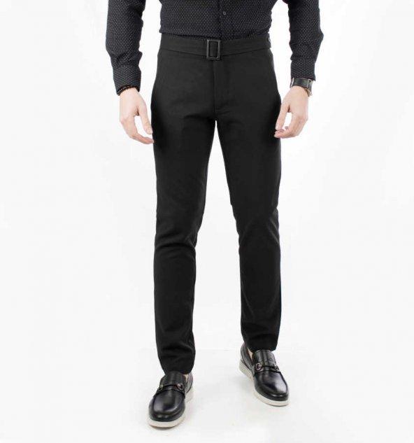 DeepSEA Kemerli Düşük Bel Dar Kesim Erkek Spor Pantolon 1907420