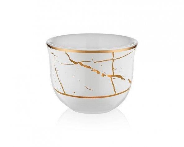 Koleksiyon Gawa Kahve Seti 6lı Mermer Beyaz