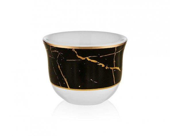 Koleksiyon Gawa Kahve Seti 6 lı Mermer Siyah