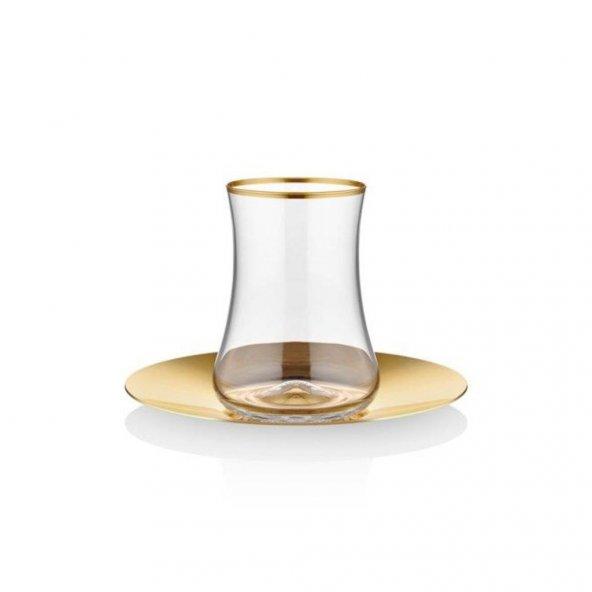 Koleksiyon Dervish Çay Seti 6lı Mat Altın