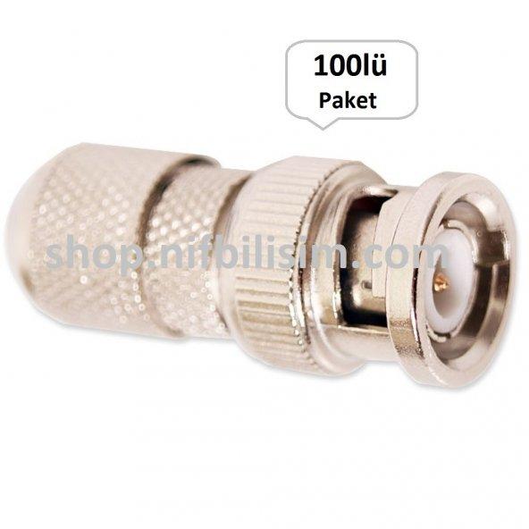 BNC Konnektör 100lü Paket - BNC Connector