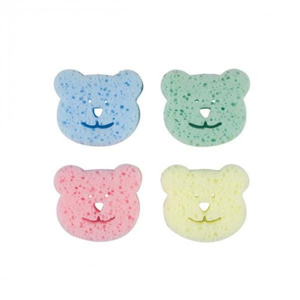 Bebedor 578 Renkli Bebek Banyo Süngeri 4lü Paket
