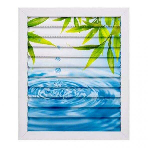 60 X 60 Alüminyum Dekoratif Baskılı Lüks Banyo Wc Panjur