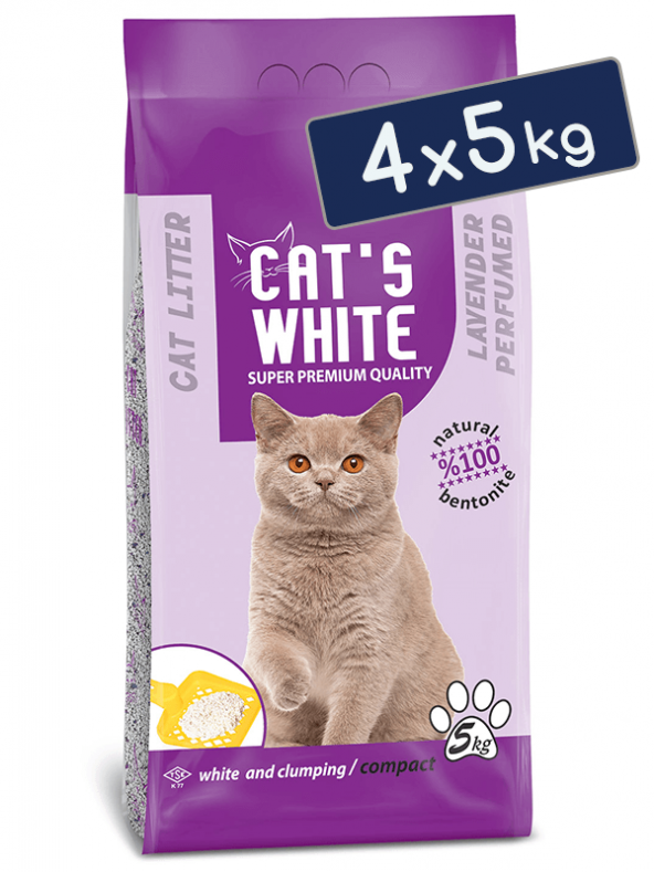 Cat's White Lavantalı Topaklaşan Bentonit Kedi Kumu 6 L 5 Kg