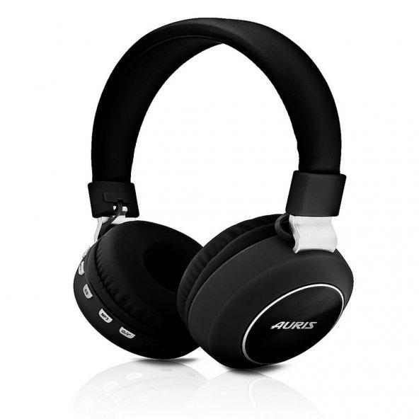 Auris Süper Bass Kafa Bantlı Bluetooth Kulaklık Siyah ARS-008
