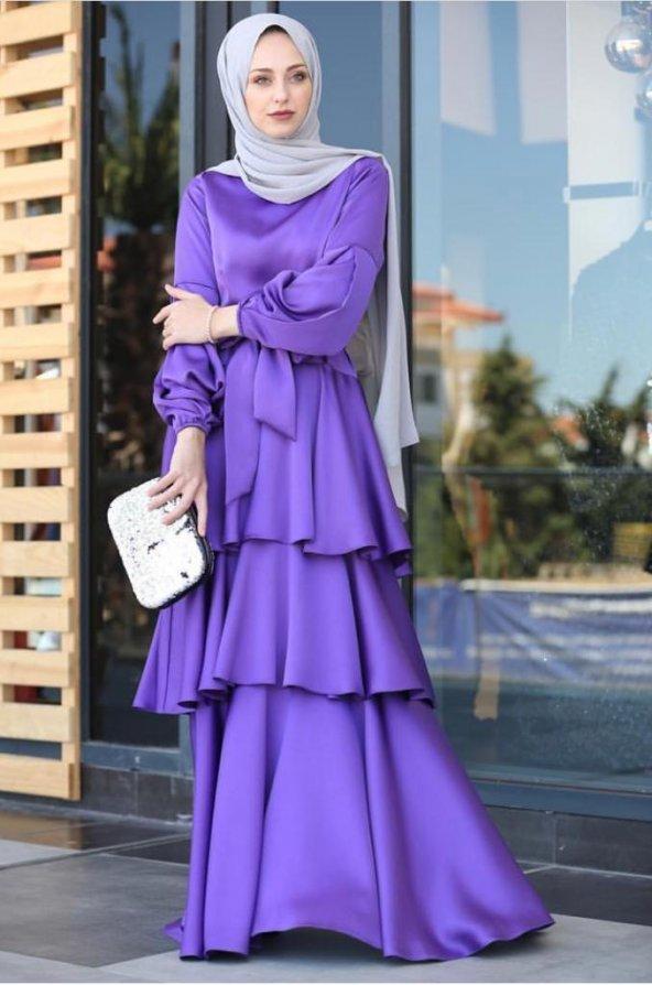 Mor abiye elbise MOR - 40