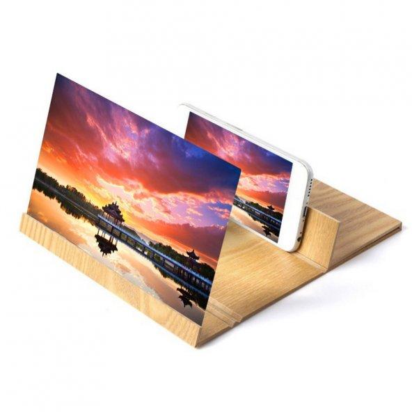 Cep Telefonlar İçin HD Video Ekran Büyüteci Film Video Standı
