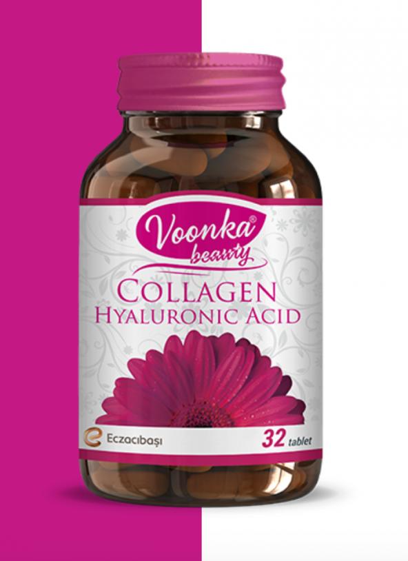 Voonka Collagen Hyaluronic Acid 32 Tablet SKT:01/2022