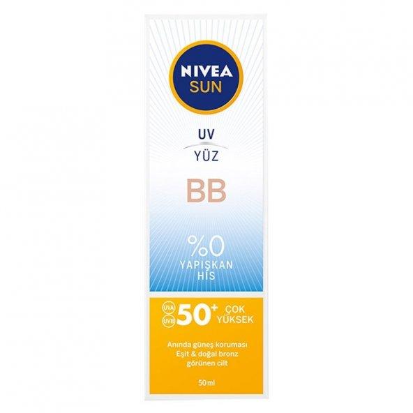 NIVEA SUN BB Güneş Koruyucu Yüz Kremi SPF50+ 50 ml