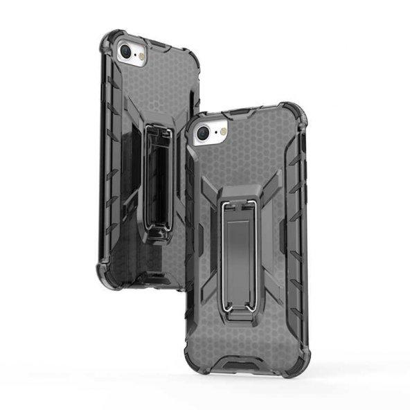 Edelfalke Apple iPhone 8 Klik Silikon Kılıf Siyah