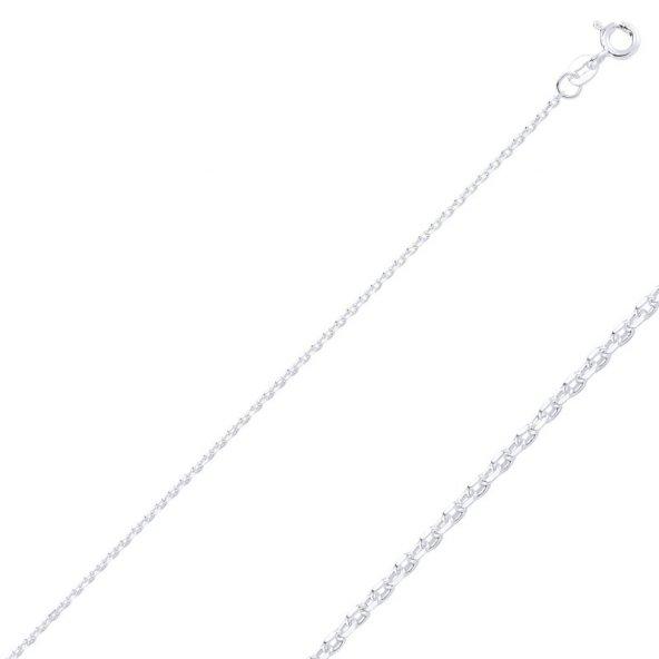 Angemiel 925 Gümüş 40 Mikron Tıraşlı Forse Zincir Kolye - 50cm