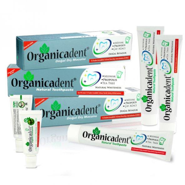 Organicadent Florürsüz Doğal Diş Macunu 75ml X3 Aile Paketi yeni