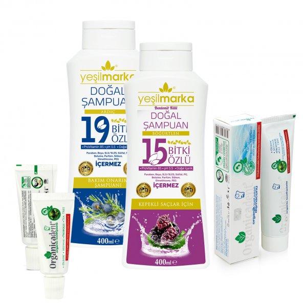 Yeşilmarka Şampuan + Organicadent Florürsüz Organik Diş Macunu