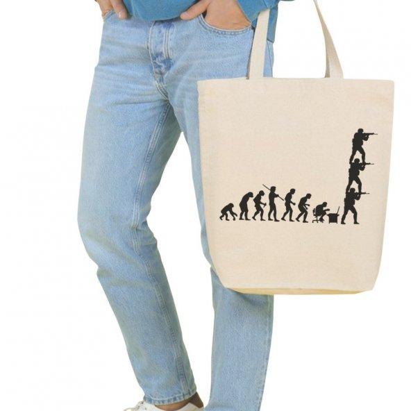 Angemiel Bag Büyük Cs Go Alışveriş Plaj Bez Çanta