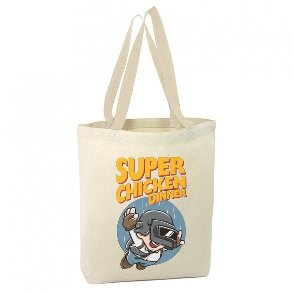 Angemiel Bag Super Chicken Dinner Alışveriş Plaj Bez Çanta