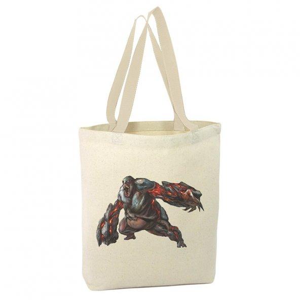 Angemiel Bag Prototype Karakteri Alışveriş Plaj Bez Çanta