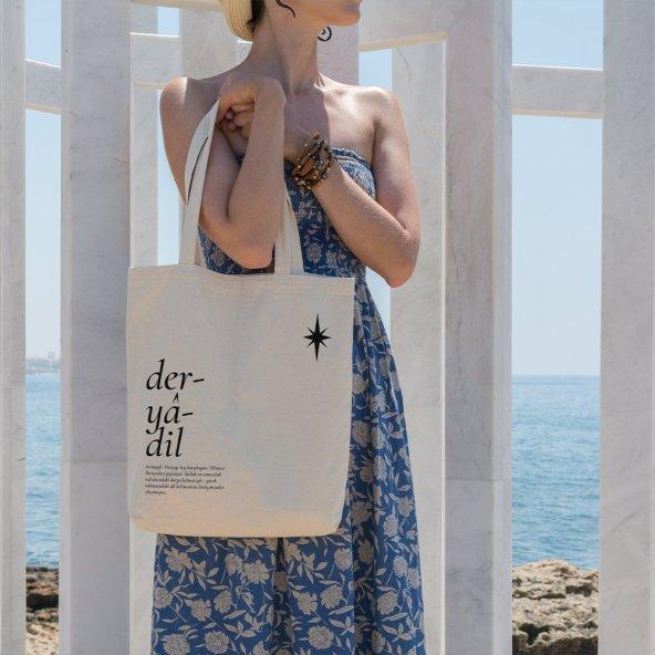 Angemiel Bag Deryadil Alışveriş Plaj Bez Çanta