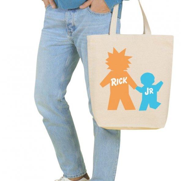 Angemiel Bag Büyük Rick and Morty Alışveriş Plaj Bez Çanta