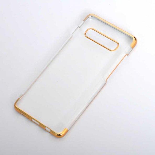 Edelfalke Galaxy S10 Plus Tareks Şeffaf Kapak Kılıf Gold