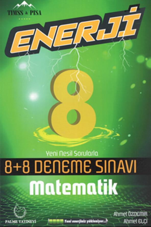 8.Sınıf Enerji 8+8 Deneme Sınavı Matematik Palme Kitabevi