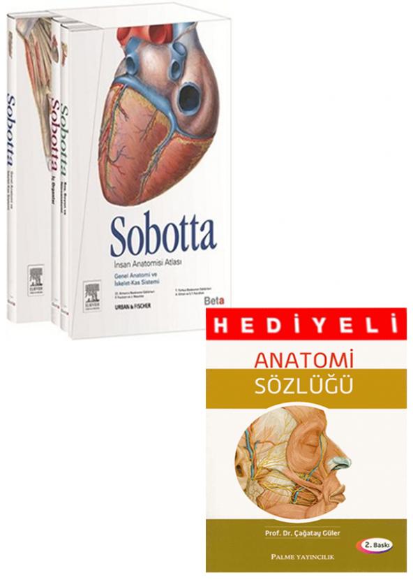Sobotta İnsan Anatomisi Atlası 3 Cilt Anatomi Sözlüğü Hediyeli