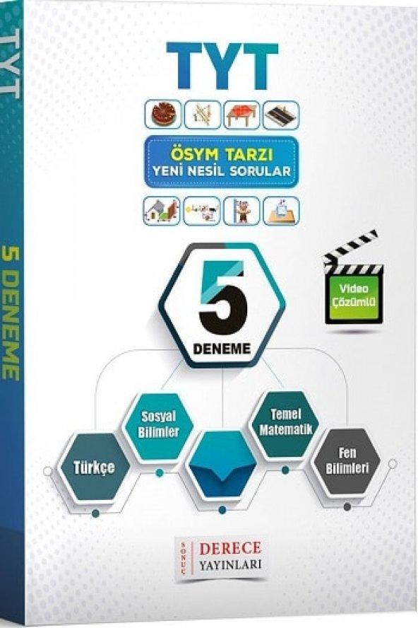 TYT Yeni Nesil Sorular Video Çözümlü 5 Deneme Derece Yayınları