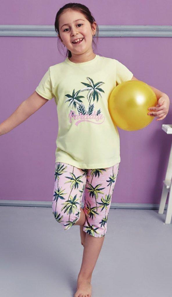 Palmiye Desen Detaylı Takım Pijama BB-1019K