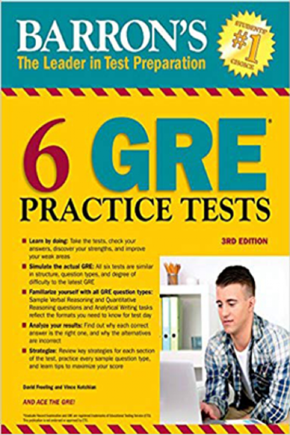 6 GRE Practice Tests 3e Barrons