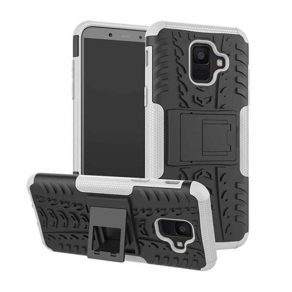 Galaxy A6 2018 Kılıf Zore Hibrit Silikon Kapak + Cam Ekran Koruyu