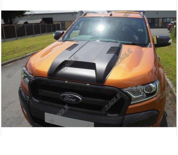 Ford ranger kaput şişirme siyah scoop 2016+