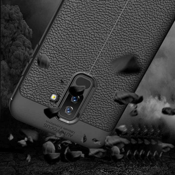 Galaxy J8 Kılıf Zore Niss Silikon Kapak + Cam Ekran Koruyucu Hedi