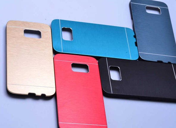 Galaxy S7 Kılıf Zore New Motomo Kapak+ Cam Ekran Koruyucu Hediye
