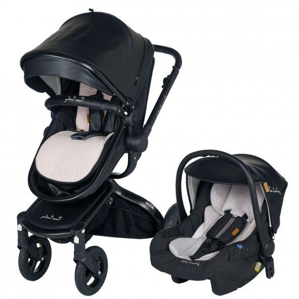 Pierre Cardin Alias Plus Travel Bebek Arabası Siyah PC-410P
