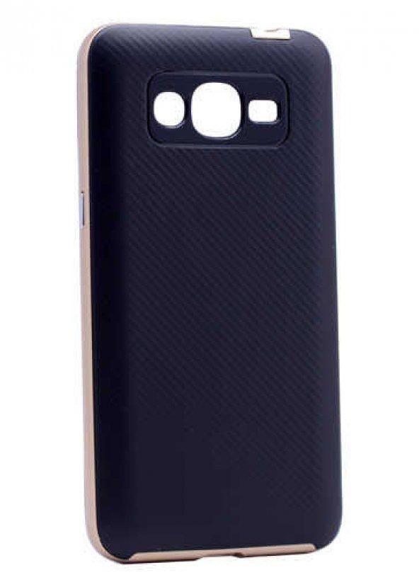 Galaxy J5 2016 Kılıf Zore İnce Mono Karbon Silikon Kapak + Cam Ekran Koruyucu Hediye Kapak
