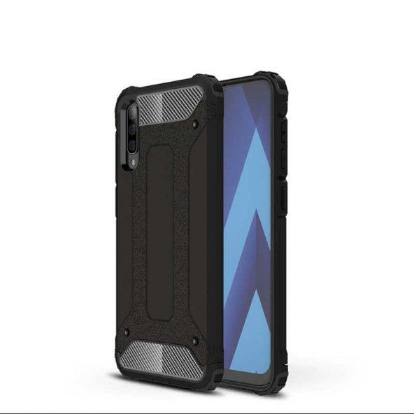 Galaxy A70 Kılıf Zore Crash Silikon Kapak + Cam Ekran Koruyucu Hediye