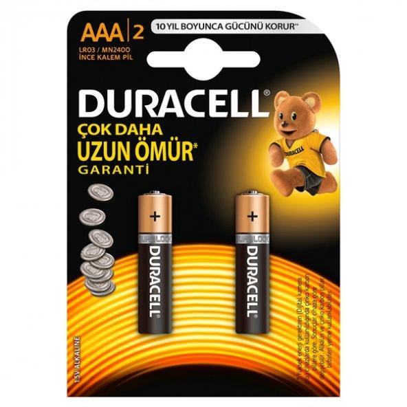 DURACELL İNCE KALEM PİL (AAA) 2Lİ