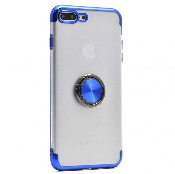 Edelfalke Apple iPhone 8 Plus Gess Silikon Kılıf Mavi