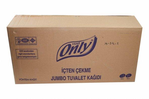İçten Çekme Jumbo Tuvalet Kağıdı 2 Katlı 6 Rulo (1 Koli)