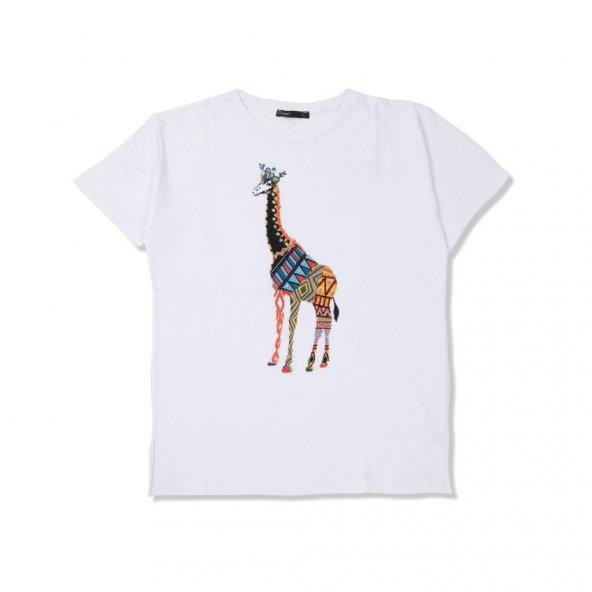 Zürafa Summer Tişört