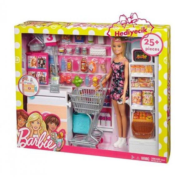 Barbie Süpermarkette Oyun Seti FRP01 YENİ MODEL