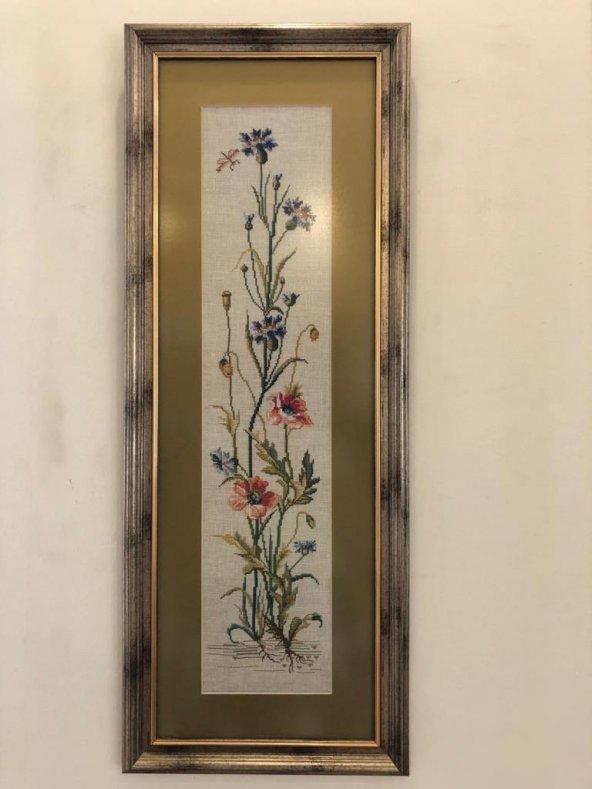 El yapımı Gelincikler - Kanaviçe Tablo