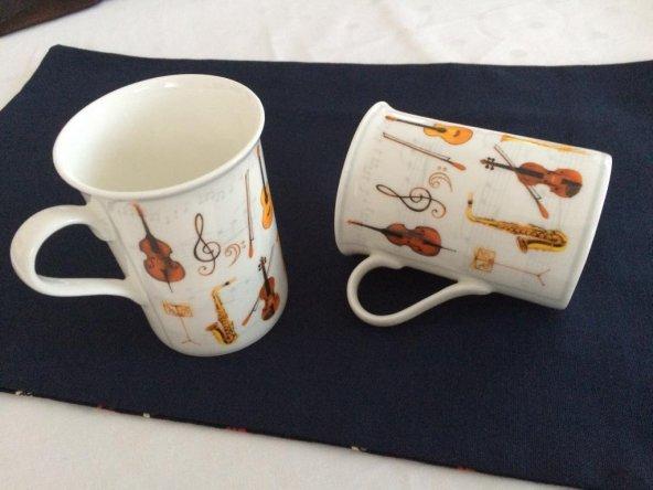 Porselen Kupa - Müzik aletleri