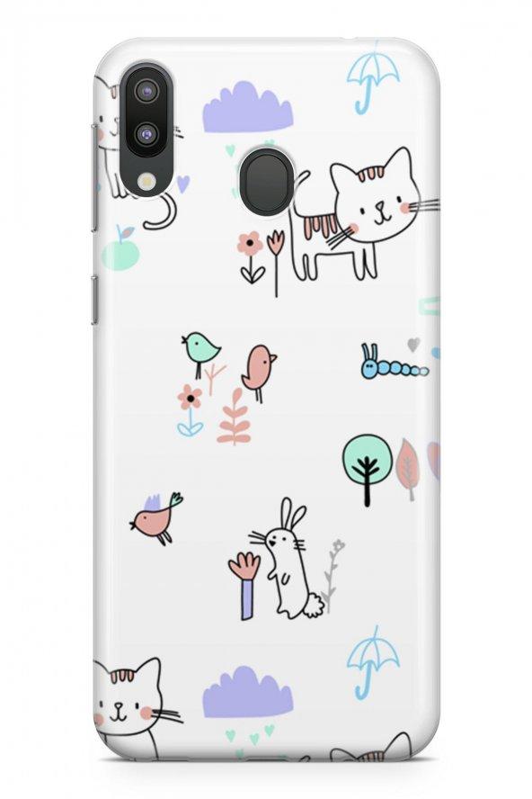 Samsung Galaxy M20 Kılıf Kitty Serisi Brianna